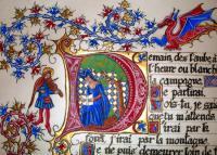 Evenement Cabrespine Enluminures et calligraphie:Les plantes qui soignent au Moyen-Age