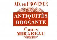Evenement Aix en Provence Antiquités et brocantes sur le cours Mirabeau