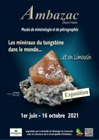 Evenement Limoges Exposition Les minéraux du tungstène dans le monde et en Limousin