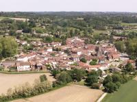 Village Amou vu du ciel Amou