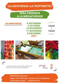 Evenement Les Riceys La ludothèque itinérante est à la médiathèque de Bar-sur-Seine