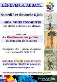 Idée de Sortie Lizières Rendez-vous au Jardin, visite guidée Les Plantes Médicinales des Abbayes de Bénévent l'Abbaye