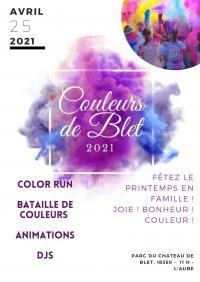 Evenement Lurcy Lévis Festival des Couleurs de Blet, Color RUN