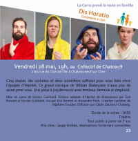 Evenement La Groutte Théâtre DIS HORATIO par la Compagnie 21