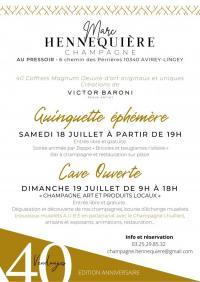Evenement Villy en Trodes Week-end anniversaire au Champagne Marc Hennequière