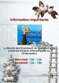 Evenement Balsièges Petit marché fermier du mercredi matin à St Laurent d'Olt