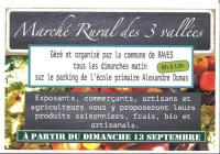 Evenement Lorraine MARCHÉ RURAL DES 3 VALLÉES