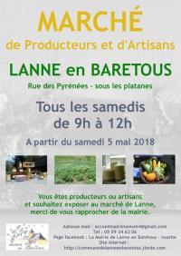 Evenement Aquitaine Marché de producteurs et d'artisans de Lanne-en-Baretous