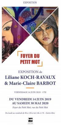Evenement Lot Exposition : Liliane Kock-Ravaux et Marie-Claire Barbot