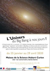 Evenement Saint Julien les Villas Exposition - L'Univers du Big Bang à nos jours !