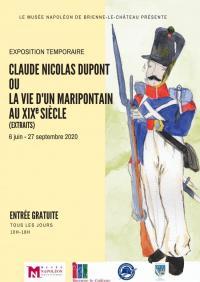 Evenement Épothémont Exposition temporaire au Musée Napoléon Claude Nicolas Dupont ou la vie d'un maripontain au XIXème siècle