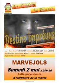 Evenement Saint Laurent d'Olt THÉÂTRE DU HANGAR PRÉSENTE SA CRÉATION 2020 DESTINS IMPRÉVUS