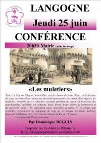 Evenement Issarlès CONFÉRENCE - LES MULETIERS