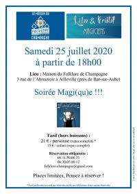 Evenement Épothémont Soirée magi(qu)e à la Maison du Folklore de Champagne