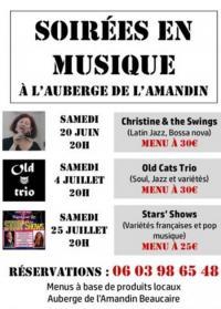Idée de Sortie Beaucaire Soirées en musique à l'Auberge l'Amandin