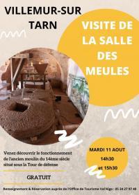 Idée de Sortie Villemur sur Tarn VISITE DE LA SALLE DES MEULES