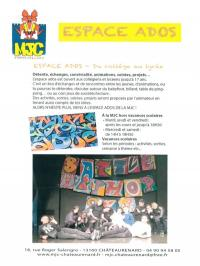 Idée de Sortie Châteaurenard Espace ados de la MJC