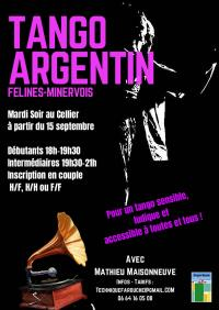 Evenement Saint Couat d'Aude TANGO ARGENTIN