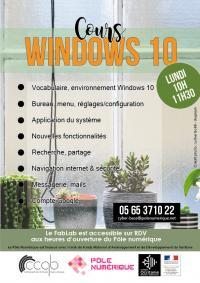 Evenement Pinsac Ateliers informatiques : Cours Windows 10