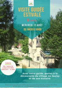 Idée de Sortie Montigny Lengrain visite guidée estivale Jaulzy