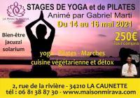 Evenement Rieux Minervois STAGE DE YOGA ET PILATES AVEC GABRIEL MARTI