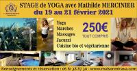 Evenement Saint Marcel sur Aude STAGE DE YOGA  AVEC MATHILDE MERCINIER