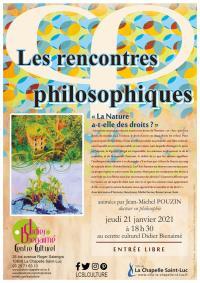 Evenement Saint Thibault Les rencontres philosophiques - « La nature a-t-elle des droits - »