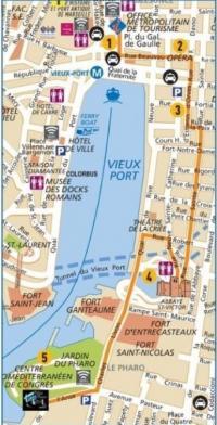 Randonnée sur la rive sud du Vieux Port Marseille