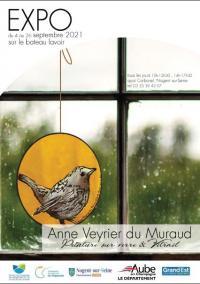 Evenement Romilly sur Seine Exposition sur le bateau lavoir : peintures sur verre - Anne Veyrier du Muraud, peintre verrier