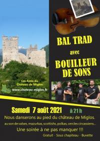 Evenement Ariège Bal-Trad avec Bouilleur de Sons au château de Miglos