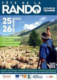 Evenement Champtercier FETE DE LA RANDO 25 et 26 septembre 2021