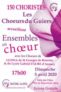 Evenement Izieu Ensembles en choeur à Pont de Beauvoisin