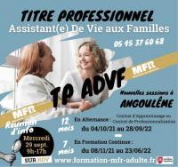 Evenement La Couronne Formation TP ADVF à Angoulême en Alternance ou en Formation Continue