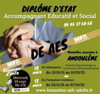 Evenement La Couronne Formation DEAES à Angoulême en Alternance ou en Formation Continue