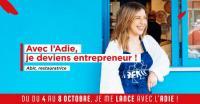 Evenement Dignac Du 4 au 8 octobre, avec l'Adie, je deviens entrepreneur e.