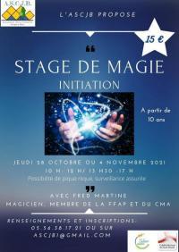 Evenement Vérac Stage de magie