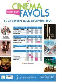 Evenement Vérac Programme du cinéma Favols du 27 octobre au 23 novembre 2021