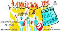 Evenement Saint Ybars Bal Forró avec Gadjos di Forró