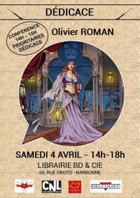 Evenement Ginestas Conférence et Dédicace - Olivier ROMAN - Les Reines de sang, Roxelane T.1