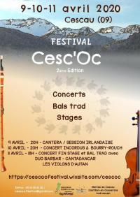 Evenement Aulus les Bains Festival Cesc'Oc