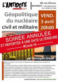 Evenement Morogues Conférence - Géopolitique du nucléaire civil et militaire