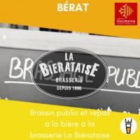 Evenement Pins Justaret Brassin public et repas à la bière à la brasserie La Biérataise