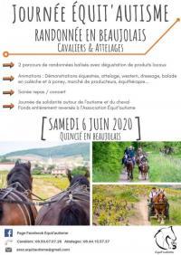 Evenement Rhône Journée Equit'autisme, randonnée en Beaujolais