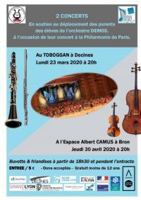 Evenement Balan Concert caritatif - dicpositif DEMOS