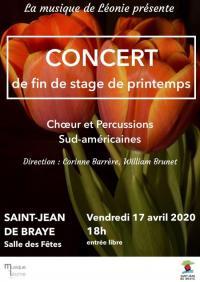 Evenement Anizy le Château Concert choeur et percussions