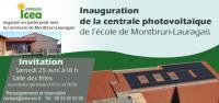Evenement Lissac Inauguration de la centrale photovoltaïque citoyenne de l'école de Montbrun