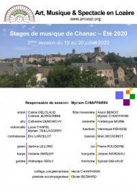 Evenement Balsièges Stage Arts Musique et Spectacle en Lozère - Session 2