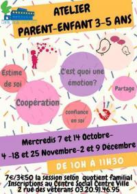 Evenement Roubaix Les ateliers parent-enfant 3-5 ans au Centres social centre ville