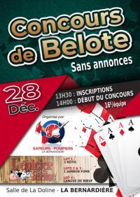 Evenement La Gaubretière Concours de Belote sans annonces