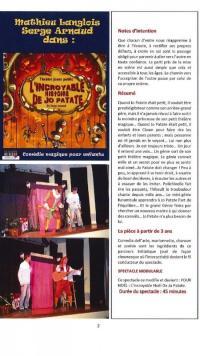 Evenement Sospel Théâtre jeune public :  Jo Patate